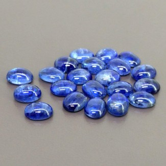 53.40 Cts. Kyanite 9x7mm Smooth Oval Shape Cabochon Parcel (21 Pcs.)
