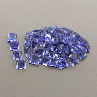 14.40 Cts. Iolite 4mm Step Cut Square Shape Gemstone Parcel (45 Pcs.)
