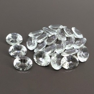 179.10 Cts. Crystal Quartz 16x12mm Diamond Cut Oval Shape Gemstone Parcel (22 Pcs.)