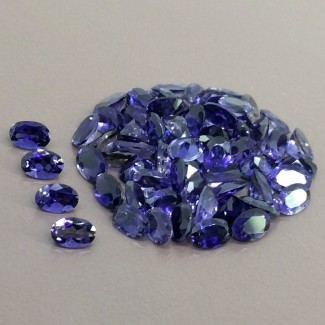 25.85 Cts. Iolite 6x4mm Regular Cut Oval Shape Gemstone Parcel (65 Pcs.)