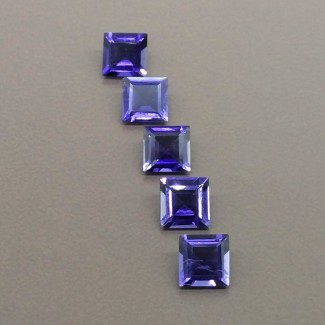 3.95 Cts. Iolite 6mm Regular Cut Square Shape Gemstone Parcel (5 Pcs.)