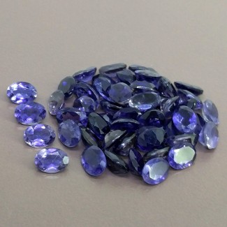 34.80 Cts. Iolite 7x5mm Regular Cut Oval Shape Gemstone Parcel (54 Pcs.)