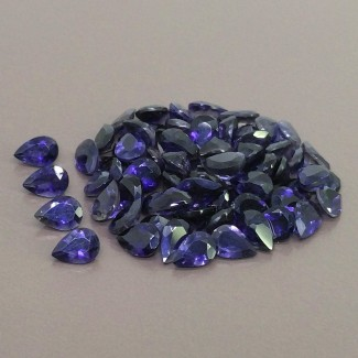 39 Cts. Iolite 7x5mm Regular Cut Pear Shape Gemstone Parcel (68 Pcs.)
