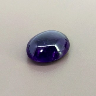 56.90 Cts. African Amethyst 27x21mm Smooth Oval Shape Cabochon Parcel (1 Pcs.)