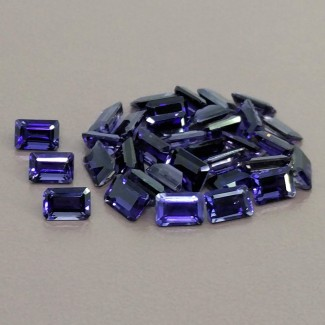 18.05 Cts. Iolite 6x4mm Step Cut Octagon Shape Gemstone Parcel (34 Pcs.)