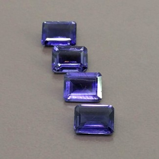 5.15 Cts. Iolite 8x6mm Step Cut Octagon Shape Gemstone Parcel (4 Pcs.)