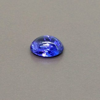 3.60 Cts. Tanzanite 10.5x8mm Smooth Oval Shape Single Cab Piece (1 Pc.)