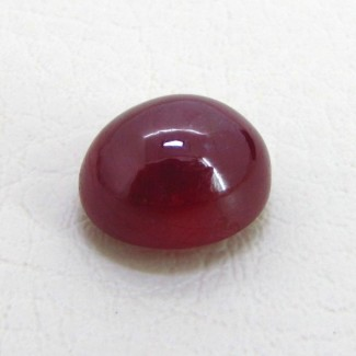 19.80 Cts. Ruby 15.5x13mm Round Shape Single Cab Piece