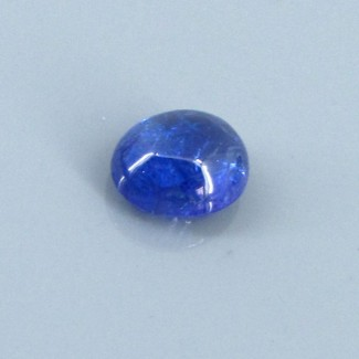 4.09 Cts. Tanzanite 10.5x8.5mm Oval Shape Single Cab Piece