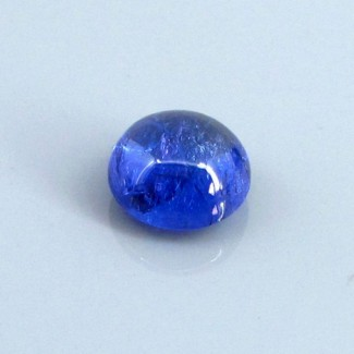 4.72 Cts. Tanzanite 9.5mm Round Shape Single Cab Piece