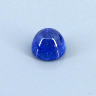 4.11 Cts. Tanzanite 9mm Round Shape Single Cab Piece