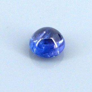 4.85 Cts. Tanzanite 9.5mm Round Shape Single Cab Piece