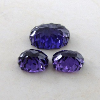62.35 Cts. Lab Alexandrite 15x11-22x16mm Fancy Shape Gem Set
