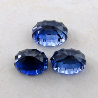 47.35 Cts. Lab Blue Sapphire 17x12-14.5x11mm Fancy Shape Gem Set