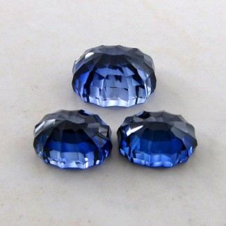 50.50 Cts. Lab Blue Sapphire 17.5x13.5-15x11.5mm Fancy Shape Gem Set