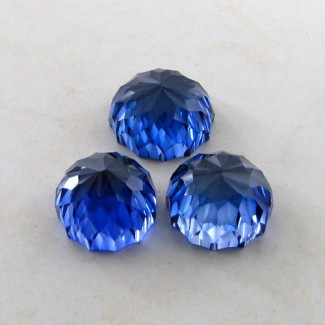 72.75 Cts. Lab Blue Sapphire 17-15mm Fancy Shape Gem Set