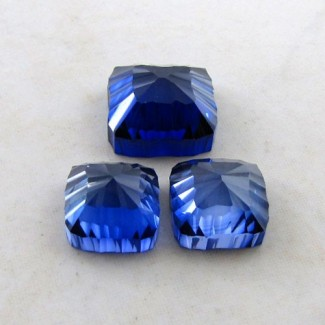 66.55 Cts. Lab Blue Sapphire 17-14mm Fancy Shape Gem Set