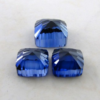 64.60 Cts. Lab Blue Sapphire 15-13mm Fancy Shape Gem Set