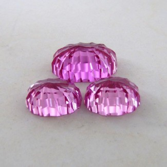 76.75 Cts. Lab Pink Sapphire 23x17-17.5x13.5mm Fancy Shape Gem Set