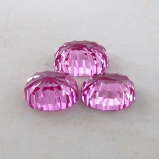 62.10 Cts. Lab Pink Sapphire 19x15-17x14mm Fancy Shape Gem Set
