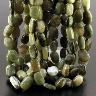 Cats Eye 11-16mm Smooth Oval Shape 16 Inch Long Gemstone Beads (Total 8 Strands)