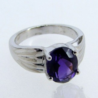 African Amethyst 925 Sterling Silver Ring