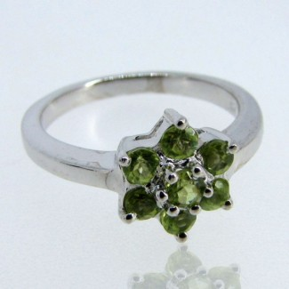 Peridot 925 Sterling Silver Ring