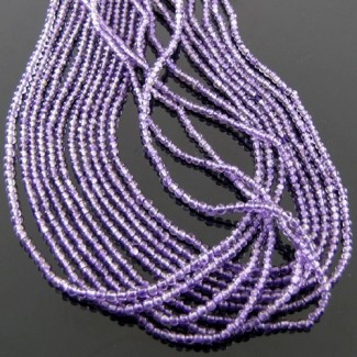 African Amethyst 2-2.5mm Smooth Round Shape Beads Strand