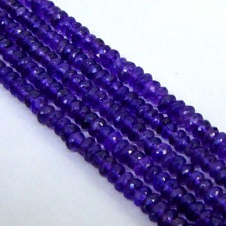 African Amethyst 5-5.5mm Faceted Rondelle Shape Beads Strand