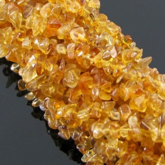 Citrine 5-7mm Smooth Chips Shape Beads Strand