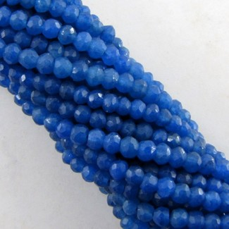 Dyed Sapphire (Ropada) 3-3.5mm Faceted Rondelle Shape Beads Strand