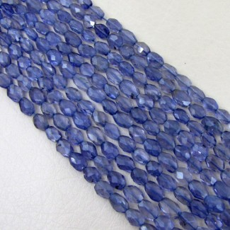 Iolite 7-8mm Faceted Oval Shape Beads Strand