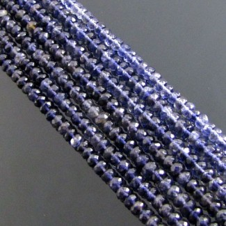 Iolite 5-5.5mm Faceted Rondelle Shape Beads Strand