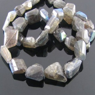 Labradorite 12-15mm Faceted Nuggets Shape Beads Strand