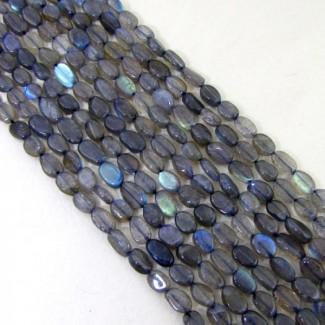 Labradorite 6-8mm Smooth Oval Shape Beads Strand