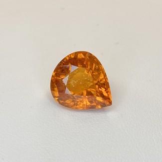 10.34 Cts. Spessartite Garnet 12.89x14.66mm Old Cut Pear Shape Single Gem Piece (1 Pc.)