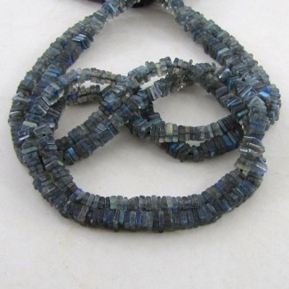 Labradorite 5-6mm Smooth Heishi Cube Shape Beads Strand
