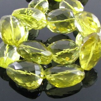Lemon Quartz 20-25mm Faceted Nuggets Shape Beads Strand