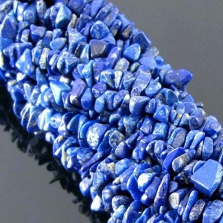 Lapis Lazuli 6-7mm Tumbeled Chips Shape Beads Strand