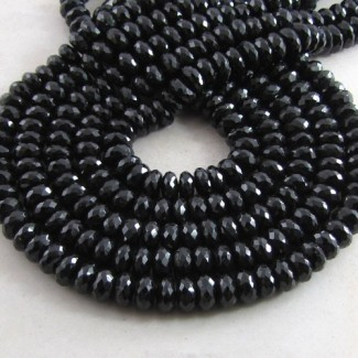 Melanite Garnet 7-8mm Faceted Rondelle Shape Beads Strand