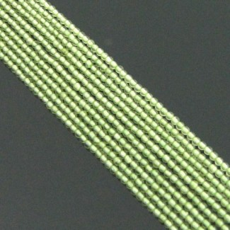 Peridot 2-2.5mm Smooth Round Shape Beads Strand