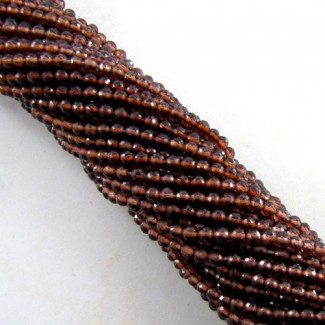 Garnet 3-3.5mm Micro Faceted Round Shape Beads Strand