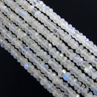 Rainbow Moonstone 5-5.5mm Faceted Rondelle Shape Beads Strand
