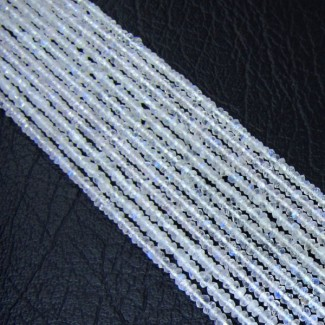 Rainbow Moonstone 2-2.5mm Faceted Rondelle Shape Beads Strand