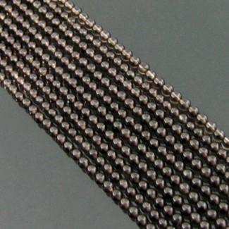 Smoky Quartz 2-2.5mm Smooth Beads Strand