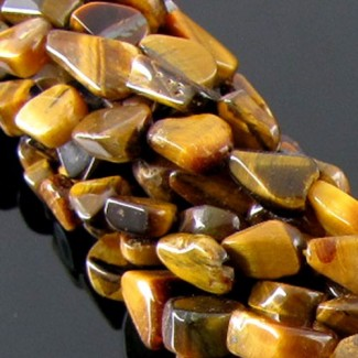 Tiger Eye 12-15mm Smooth Nuggets Shape Beads Strand
