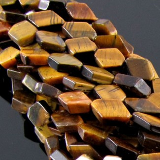 Tiger Eye 10-12mm Smooth Diamond Shape Beads Strand