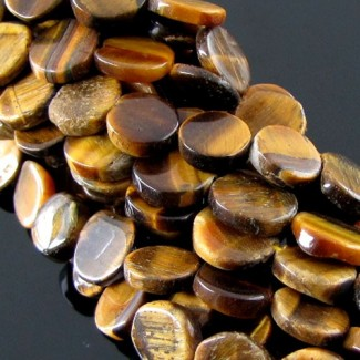 Tiger Eye 8-10mm Smooth Round Shape Beads Strand