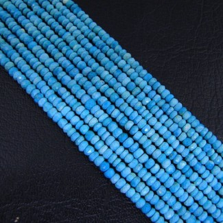 Turquoise 3-3.5mm Faceted Rondelle Shape Beads Strand