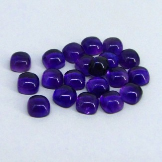 57.35 Cts. African Amethyst 8mm Cushion Shape Cabochon Parcel (20 Pcs.)